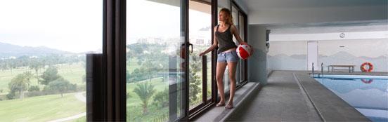 Fotografía de una ventana corredera Sumum Tecnocor