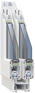 Detalle de una ventana de PVC Sumum Tecnocor